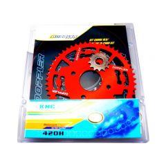 Kit chaine Doppler X-Power et TZR 13x53 rouge