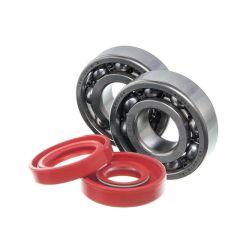 Kit roulements et spi rouge de vilebrequin Watts Minarelli AM6 (6204 C4)