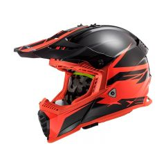 Casque LS2 Fast Evo Roar noir et rouge