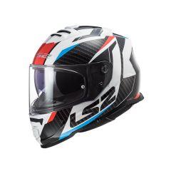 Casque LS2 Storm Racer bleu et rouge