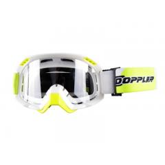 Masque Cross Doppler blanc et jaune
