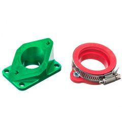 Pipe d'admission aluminium Most 36 à 40mm PWK vert AM6 et Derbi