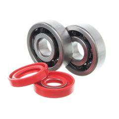 Kit roulements céramiques et spi rouge de vilebrequin Most Minarelli AM6 (6303 C3)