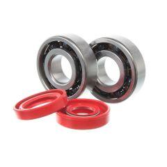Kit roulements céramiques et spi rouge de vilebrequin Most Minarelli AM6 (6204 C4)