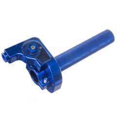 Poignée de gaz NoEnd Alu CNC Bleu