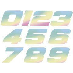 Autocollant numéro holographique