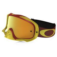 Masque Cross Oakley Crowbar MX Shockwave rouge et jaune écran iridium et transparent