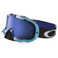 Masque Cross Oakley Crowbar MX Pined Race bleu et blanc écran iridium