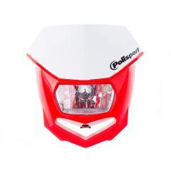 Tête de fourche Polisport Halo rouge et blanc homologué