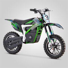 Pocket Bike cross Apollo Falcon 500W vert électrique version 2020 pour enfant