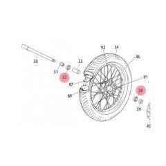 Roulement de roue avant Rieju MRT 6202 C3