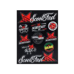 Autocollant Scootfast 27,5 x 21,5 cm Noir