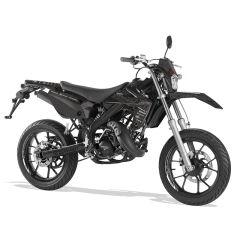 Kit déco ScootFast 2020 Rieju MRT pailleté-Blanc/Noir