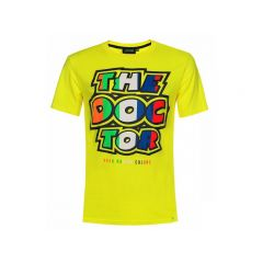 T-Shirt VR46 The Doctor Stripes Jaune
