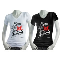 T-shirt Born to Ride Femme