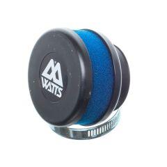 Filtre à air Watts court mousse bleu 49mm