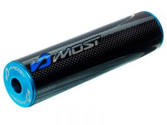 Silencieux d'échappement Most 70 / 80cc carbone et bleu
