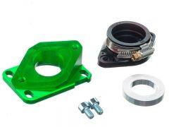 Pipe d'admission aluminium Most 21 à 28mm PWK Vert AM6 et Derbi
