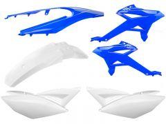Kit carénage Watts Beta RR après 2012 blanc et bleu
