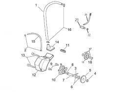 Eclaté moteur - pompe à huile Minarelli AM6