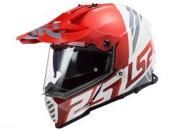 Casque LS2 Pioneer Evo rouge et blanc