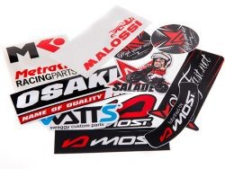 Autocollant ScootFast (pack 6 SF + 5 MOST + 6 Divers)