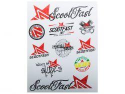Autocollant Scootfast 27,5 x 21,5 cm Blanc