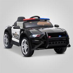 Voiture jouet électrique pour enfant et bébé modèle Ford Mustang Police blanc