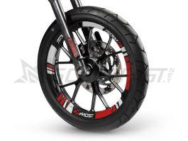 Rouge Brillant Jante de Moto d/écalcomanies Autocollant Accessoire pour Honda Varadero