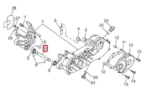Schema Elettrico Mbk Booster : Entretoise axe de moteur mbk booster