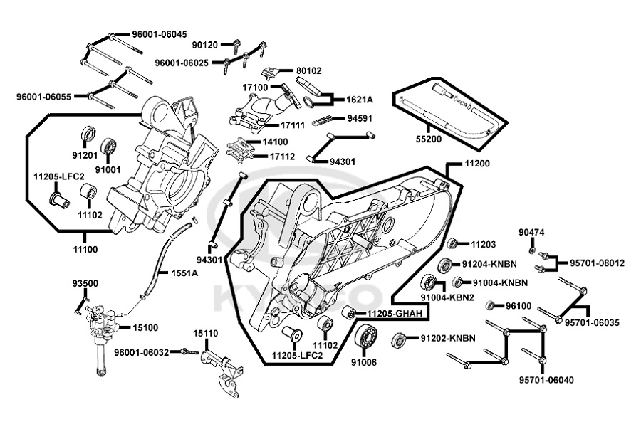 pipe d 39 admission origine kymco 50 2t agility super 8. Black Bedroom Furniture Sets. Home Design Ideas