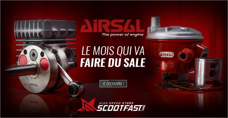 Image présentation du mois de la marque Airsal sur le store Scootfast