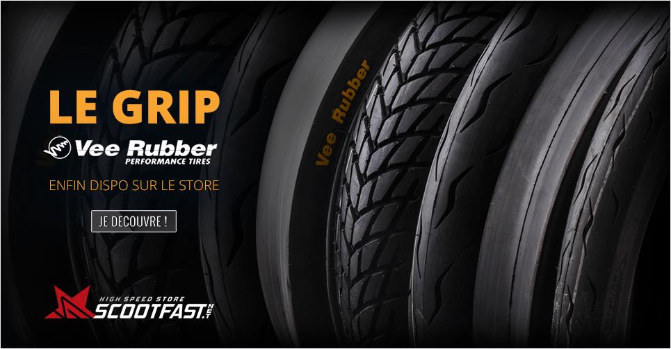 Image annonce nouveaux pneus Vee Rubber sur le store scootfast