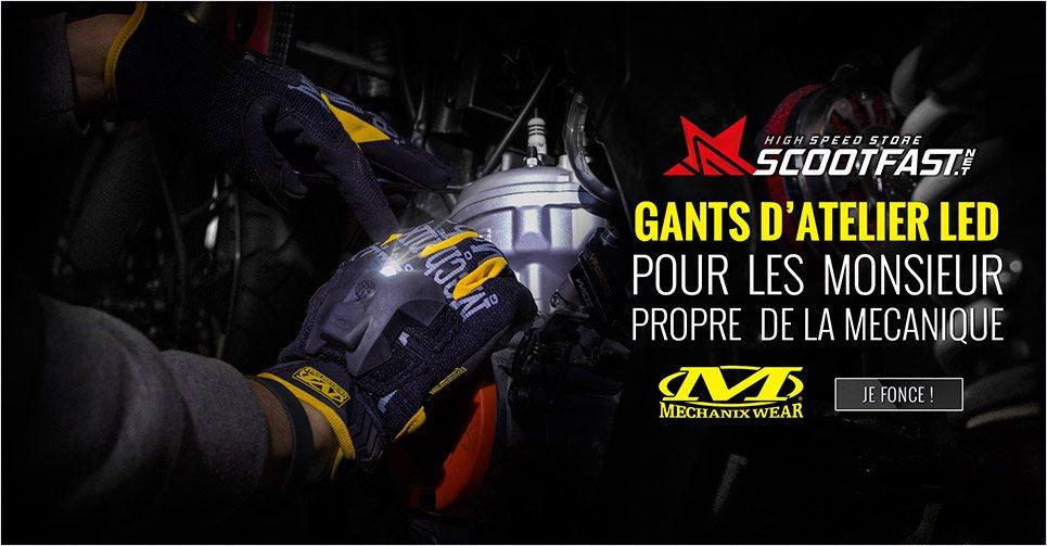Image présentation nouveaux gants d'atelier à Led Mechanix