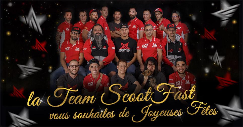 Image présentation équipe ScootFast pour les vœux de Noël