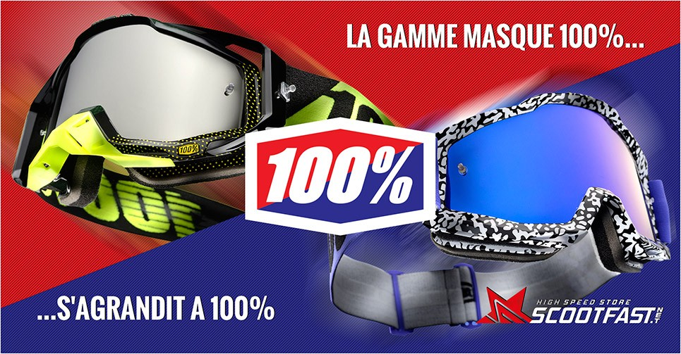 Image présentation des nouveaux masque de cross 100%