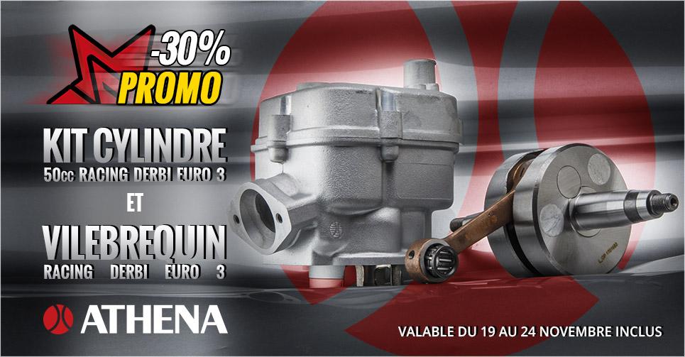 image présentation promotion kit cylindre et vilebrequin Athena pour Derbi Euro 3