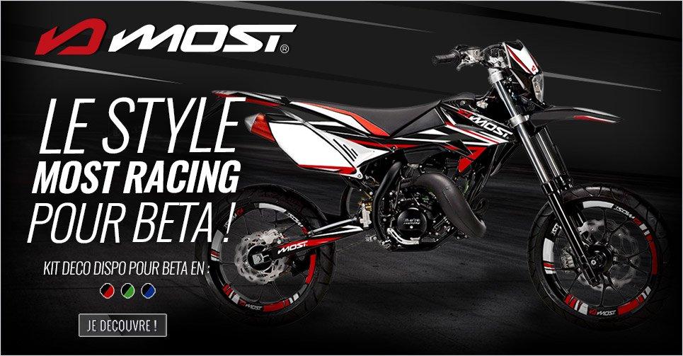 Image de présentation des nouveaux kits déco Most Racing pour moto Beta