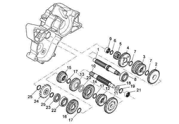 kit roulement boite de vitesse watts minarelli am6. Black Bedroom Furniture Sets. Home Design Ideas